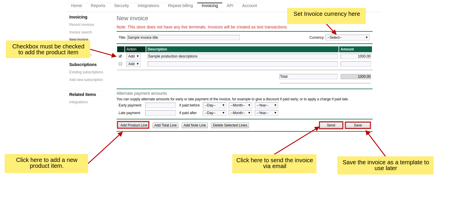 How To Use E Invoicing Telr Support Center